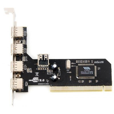 New VT6202 4 Multi USB 2.0 Port PCI Card
