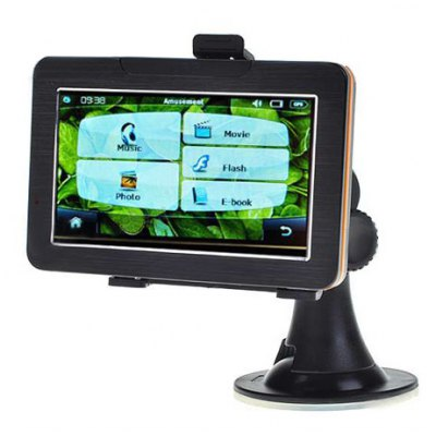 4.3 inch LCD Windows CE 5.0 Core GPS Navigator with FM Transmitter