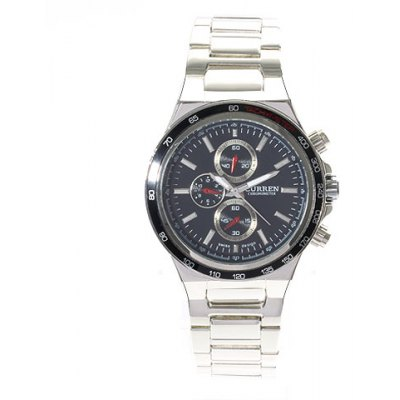 Curren 8011 leisure style fashion curren chronometer watch for male silver and black Curren leisure style fashion watch price