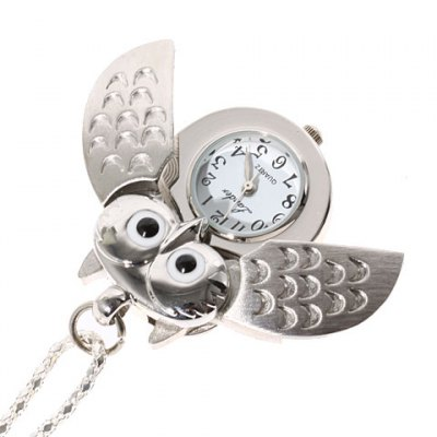 Retro Pocket Watch with Owl Shape DesignPocket Watches<br>Retro Pocket Watch with Owl Shape Design<br><br>Brand: No<br>Watches categories: Pocket watch<br>Watch style: Restore ancient ways classic<br>Available Color: Silver<br>Movement type: Quartz watch<br>Shape of the dial: Circular<br>Display type: Pointer<br>Case material: Stainless steel<br>Band material: Steel<br>Product weight: 0.05 kg<br>Package weight: 0.1 kg<br>Product size (L x W x H) : 58 x 3.4 x 0.8 cm<br>Package size (L x W x H): 10 x 10 x 5 cm<br>Package contents: 1 x Watch