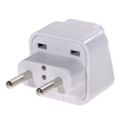 Universal AU US to 2 Pin EU AC Power Plug Socket Adapter ConverteriPhone Cables &amp; Adapters<br>Universal AU US to 2 Pin EU AC Power Plug Socket Adapter Converter<br><br>Type: Power Adapter<br>Compatibility: Sony Ericsson, Nokia Lumia 920/820, iPhone 5/5S, Galaxy Note 2 N7100, Blackberry, Universal, Samsung Galaxy S3 i9300, HTC, Galaxy Note 3 N9000, Nokia, Google Nexus 7 2nd, LG, Samsung Galaxy S4 i9500/i<br>Color: White<br>Product weight: 30 g<br>Package weight: 0.070 kg<br>Product size (L x W x H) : 5.8 x 3.6 x 6 cm<br>Package size (L x W x H): 8 x 5 x 7 cm<br>Package Contents: 1 x Power Adapter