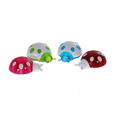 Гаджет   4 x Plastic Mini Ultra Strong Colorful Ladybug Shaped Refrigerator Magnet