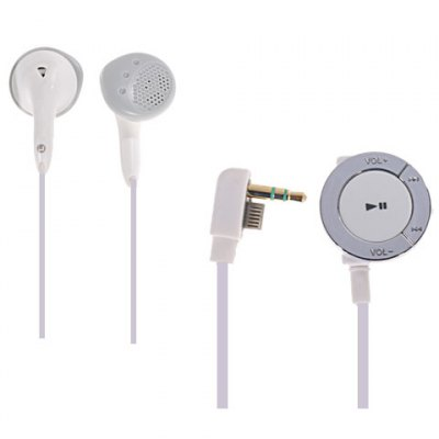 Headphone with Remote Control for PSP3000 PSP2000 - White (3.5mm jack / 1.0cm Cable) от GearBest.com INT