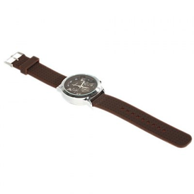 Unisex WoMaGe 9622 Quartz Wrist Watch with Silicone Band (Brown)