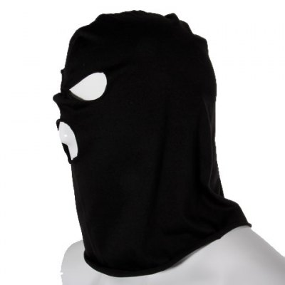 Durable 100% Cotton Material Full Face Protector Three Hole Knit Mask ?Black?Cycling<br>Durable 100% Cotton Material Full Face Protector Three Hole Knit Mask ?Black?<br>
