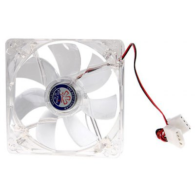 Stylish Heatsink Cooling Fan with 4-LED White Light for Computer Case (120mm)