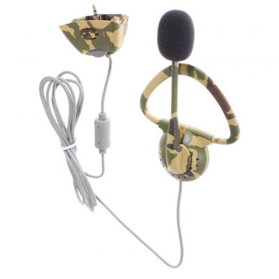 Гаджет   Monaural Headset Headphone with Microphone for Microsoft XBOX 360 - 2.5mm Camouflage Color Video Game