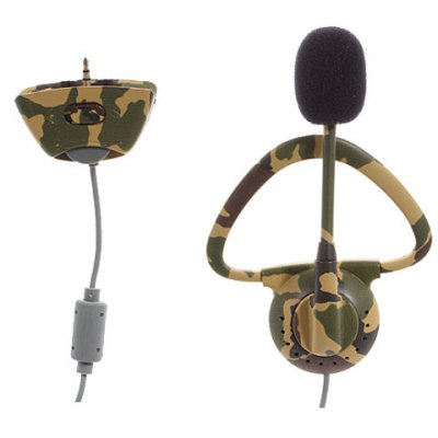 Monaural Headset Headphone with Microphone for Microsoft XBOX 360 - 2.5mm Camouflage Color от GearBest.com INT