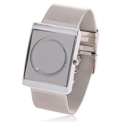 Fashion Watch with Round Dial and Steel Band