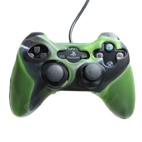 Army Green Silicone Protective Case for Xbox 360 Controller VX00031G