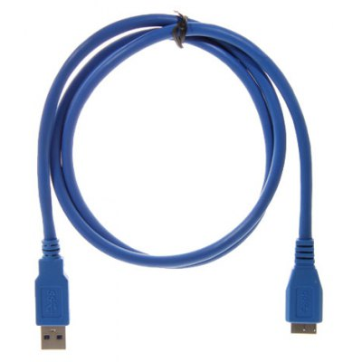 1M USB 3.0 AM to Micro Cable(blue)