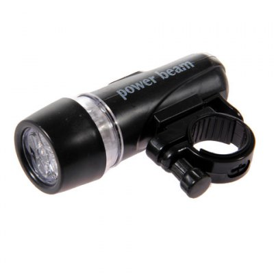 Гаджет   Practical 5-LED Bike Head Flash Light Torch and Bicycle Rear Tail Warning Lamp (Black with Red) Bike Lights