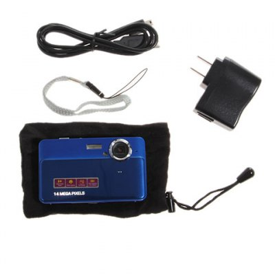 DC - 590 2.7 inch LCD 14.0MP Digital Camera Anti - shock 4X Digital ZoomDigital Camera<br>DC - 590 2.7 inch LCD 14.0MP Digital Camera Anti - shock 4X Digital Zoom<br><br>Language: English<br>Pixel: &gt;1300w<br>Display size (inch): 2.7<br>Screen type: Normal screen<br>Image resoluion: 4000 x 3000 (12MP), 640 x 480 (VGA), 4416 x 3312 (14MP), 2048 x 1536 (3MP), 2592 x 1944 (5MP), 3264 x 2448 (8MP), 3648 x 2736 (10MP), 1920 x 1080 (2MP HD)<br>Sensor: CMOS<br>Special performance: Microphone, Continue Shot, Smile Capture, Face detection, Focus free<br>Digital zoom: 4X<br>Battery type: Lithium Battery<br>Video resolution: 640 x 480<br>Lens type: Periscopic<br>File format: AVI, JPEG<br>Interface: SD card slot, USB 2.0 interface<br>System requirements: Windows XP, Mac, Vista<br>Internal memory storage: &lt;1G<br>External memory storage(Maximum, not included): SD card up to 32GB<br>Package weight: 0.388 kg<br>Package size (L x W x H): 18.0 x 13.5 x 7.0 cm<br>Package contents: 1 x Camera, 1 x USB cable, 1 x CD-ROM, 1 x User manual, 1 x wrist strap, 1 x pouch, 1 x power adaptor