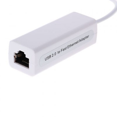USB 2.0 Ethernet Adapter 10/100Mbps Adapter for Android/Windows/Linux/Mac OS - White