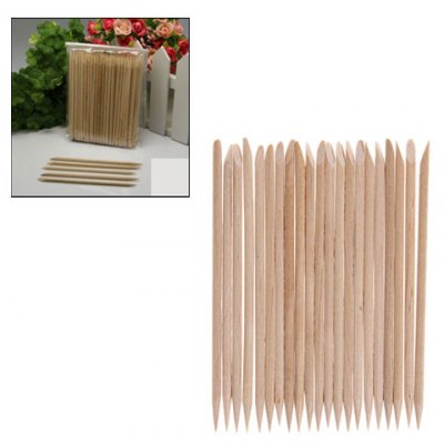 100 Pcs Multifunctional Manicure Nail Art Tool Wood Cuticle Remover Sticks