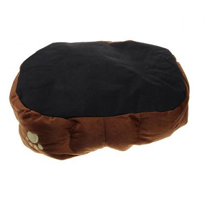 Trendy Plush Pet Bed with Removable Pet Pad for Dog Cat Ferret (Coffee)Pet Supplies<br>Trendy Plush Pet Bed with Removable Pet Pad for Dog Cat Ferret (Coffee)<br>