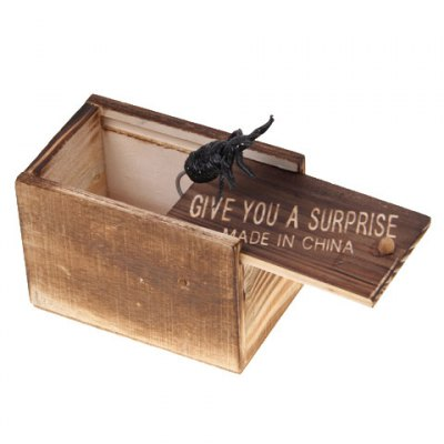 Фотография Terrorist Toys Strange Wooden Box with a Spider Inside