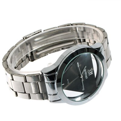Bariho Men Watch Triangle Shaped Dial Stainless Steel Watchband