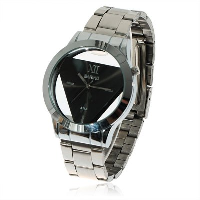 Bariho Triangle Shaped Dial Watch A112 (Black Dial)