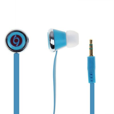 Noodles Shape 3.5mm Stereo Heasset with 1.2m Cable - Blue