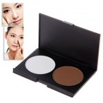 Excellent 2 Colors Charming Make-up Shading Powder Shadow Face Cosmetic Powder Kit