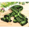 Fashionable Unisex Square Shaped Winter and Fall Warm Shawl Stole Scarf Muffler with Fringed Decoration (Olive Green with Black) deal