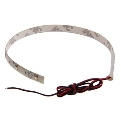 10 LED 30cm Flexible Strip Waterproof Car Light with 45cm Cable - White Light