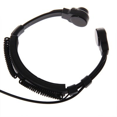 K Stretchable Throat Vibration Speaker/Mic Earphone for Universal Interphones with A Earbud - BlackWalkie Talkies Accessories<br>K Stretchable Throat Vibration Speaker/Mic Earphone for Universal Interphones with A Earbud - Black<br>