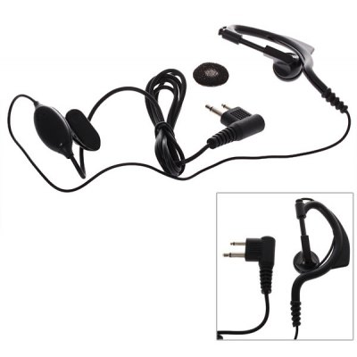 M Earphone with Mic for Interphone GP88/ TC500 and Others with The Same Port - Black