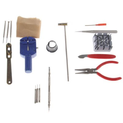 New Universal 17 PCS Watch Tool Kit with Briefbag