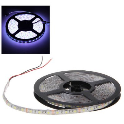 5 Meters PCB 5050 SMD White Light Waterproof  LED Strip Lights