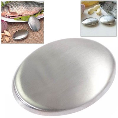 Multipurpose Novel Mini Magic Oval Shape Stainless Steel Soap for Removing Odor