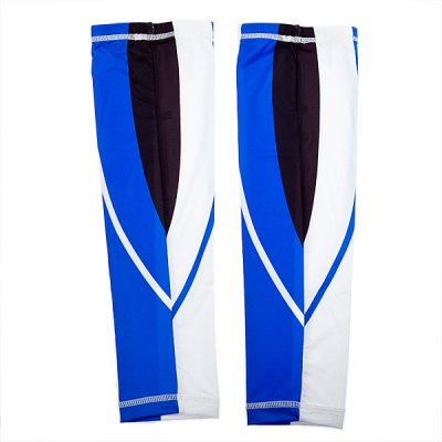Comfortable L Size Cycling Arm Sleeve/Arm Warmer for Biking (Blue with White)Cycling<br>Comfortable L Size Cycling Arm Sleeve/Arm Warmer for Biking (Blue with White)<br>