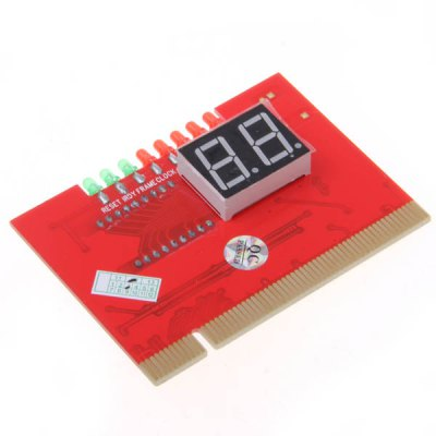 PCI 2Bits Double-sided Displayed with Light Diagnosis Card for Desktop -Red