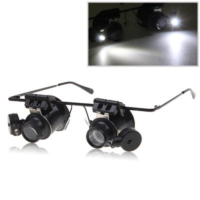 9892A 20X Watch Repair Binocular Magnifier (Black)
