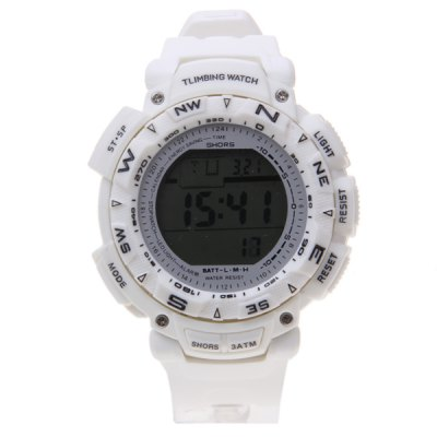 Waterproof LED Watch with Round Dial and Rubber BandWatches &amp; Jewelry<br>Waterproof LED Watch with Round Dial and Rubber Band<br><br>People: Couple tables<br>Watch style: LED<br>Shape of the dial: Round<br>Movement type: Digital watch<br>Display type: Numbers<br>Band material: Rubber<br>Clasp type: Pin buckle<br>The dial thickness: 1.5 cm<br>The dial diameter: 4.3 cm<br>Product weight: 0.06 kg<br>Package weight: 0.11 kg<br>Product size (L x W x H) : 26.3 x 5.3 x 1.5 cm<br>Package size (L x W x H): 27 x 6.3 x 2.5 cm<br>Package contents: 1 x Watch