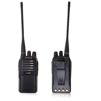 A-630 UHF: 400 - 470MHz 5W Walkie Talkie with FM/ VOX/ CTCSS/ DCS/ Voice Prompt Function