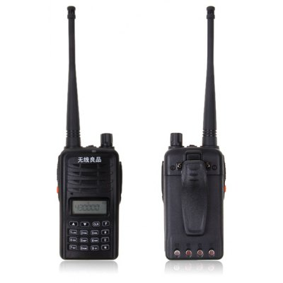 Q6  VHF 5W 1.2-inch LCD Walkie Talkie with 99 Memory Channel + 0 Channel - Black