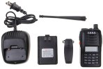 best Q6  VHF 5W 1.2-inch LCD Walkie Talkie with 99 Memory Channel + 0 Channel - Black