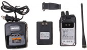best A-630 UHF: 400 - 470MHz 5W Walkie Talkie with FM/ VOX/ CTCSS/ DCS/ Voice Prompt Function