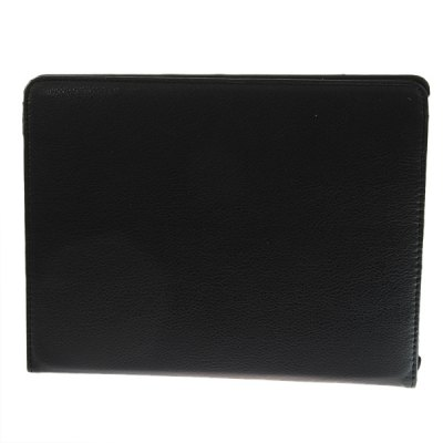 Фотография 360 Degrees Rotation Folding Leather Case with Built-in Stand for The New iPad 3rd Generation / iPad 2 - Black