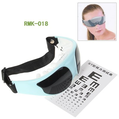 New Style Relax Eye Forehead Magnetic Massager Vibration Release Fatigue Massage RMK- 018 (Cystal Green)