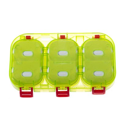 Portable 6-Compartment Fishing Box for Fishing Lovers (Green)Fishing<br>Portable 6-Compartment Fishing Box for Fishing Lovers (Green)<br>