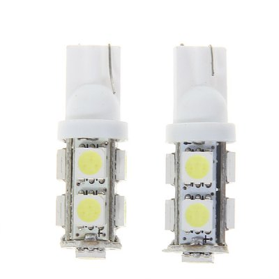 2pcs 9 LED DC12V White Light Auto Car Turn Signal Bulb Lamp Set