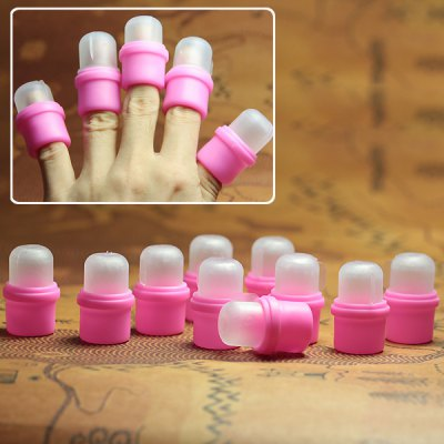 10PCS Pink Wearable Nail Soakers Polish For Remover Acrylic