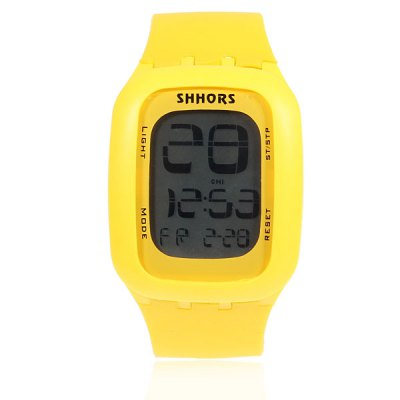 Гаджет   Shhors Rectangle Touch Screen Digital Display Time Rubber Band LED Watch Watches