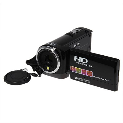 DV920 2.7 - inch  270 Degree Rotation LCD 16.0 MP Camcorder Digital Video Recorder H.264 720P HD 5M CMOS 8X Digital Zoom