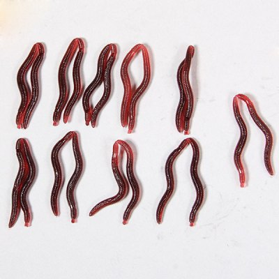 Wonderful Lepis Soft Worm Shaped Fishing Lure for Fishing Lovers (Reddish Brown)