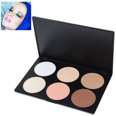 Fashionable Professional Face Concealer Women Cosmetic Kit with Rectangle Box (6 Colors)