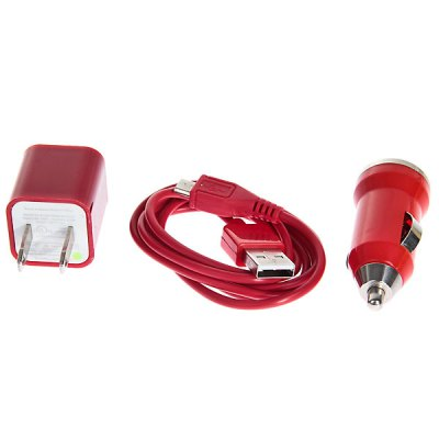 Mini 3 in 1 Charger Kit (Car Charger + USB Cable + US Plug Charger Adapter) for Samsung/HTC/BlackberryiPhone Cables &amp; Adapters<br>Mini 3 in 1 Charger Kit (Car Charger + USB Cable + US Plug Charger Adapter) for Samsung/HTC/Blackberry<br><br>Type: Backup Power Banks<br>Compatibility: Samsung, LG, HTC, Blackberry<br>Connection Type: Micro USB<br>Package weight: 0.080 kg<br>Package size (L x W x H): 12.0 x 8.0 x 2.0 cm<br>Package Contents: 1 x Adapter,1 x USB Cable,1 x Car Charger